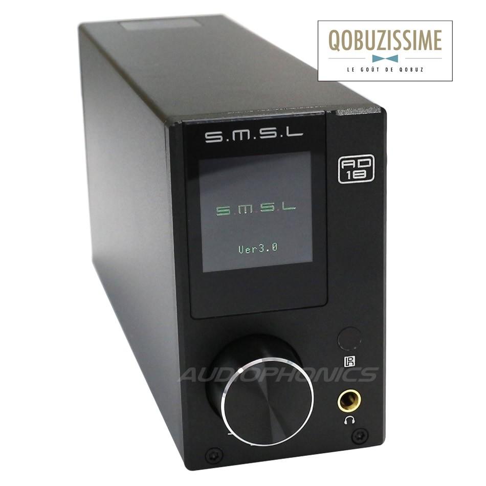 SMSL AD18 V3 Digital Amplifier NFC TAS5342A 2x 65W + Subwoofer out / 8 Ohm