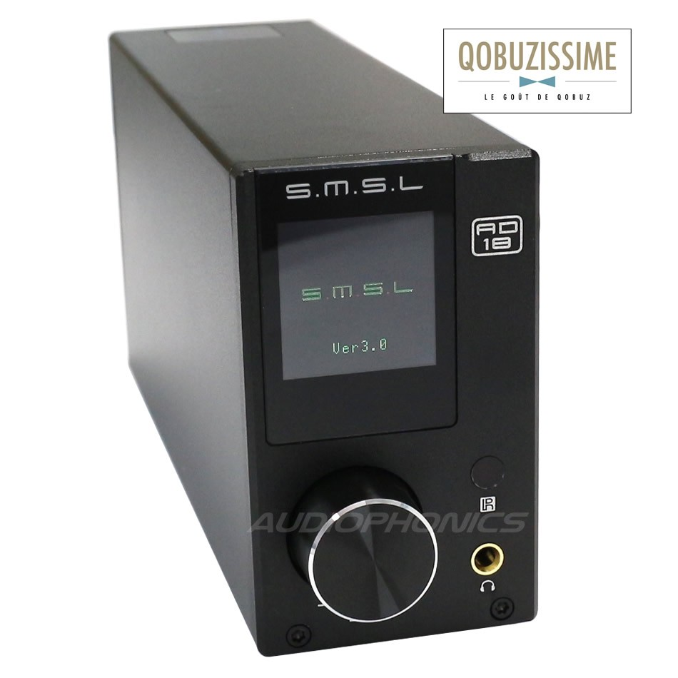 SMSL AD18 V3.1 Amplificateur FDA Bluetooth NFC TAS5342A 2x 40W + sortie Subwoofer / 8 Ohm