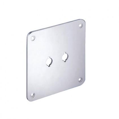 WBT-530.05 Plaque de montage aluminium pour Borniers 110 x 110