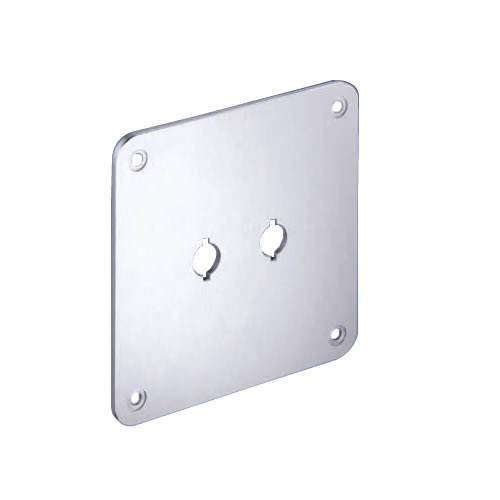 WBT-530.05 Aluminum Mounting Plate for Terminal Blocks 110x110mm
