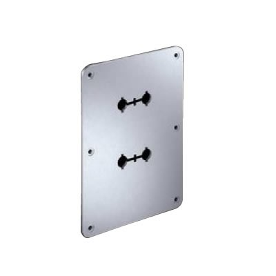 WBT-532.05 Aluminum Mounting Plate for Terminal Blocks 127x178mm