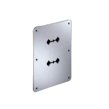 WBT-531.05 Plaque de montage aluminium pour Borniers 110 x 150