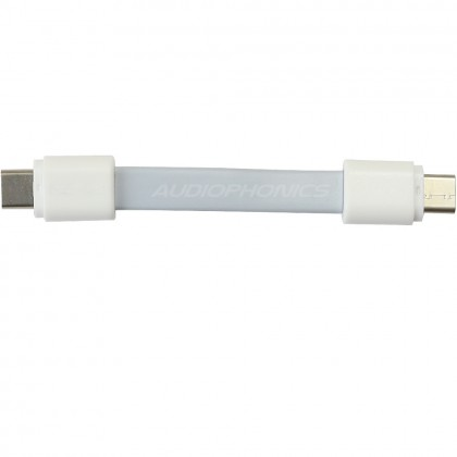 USB White Flat Cable USB-C Male TO USB-B Male 2.0 10cm