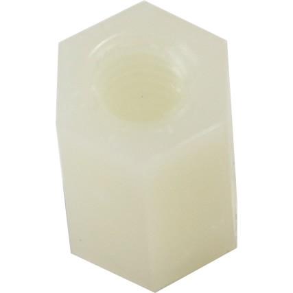 Entretoise Nylon hexagonale M4x10mm (x10)
