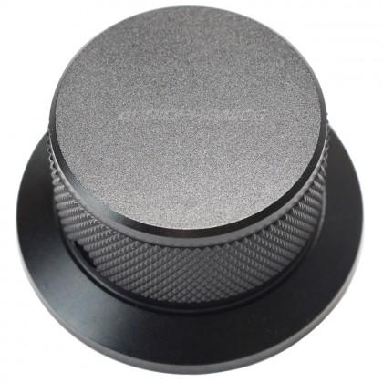 Bouton aluminium 38x25mm Noir Axe méplat Ø6mm