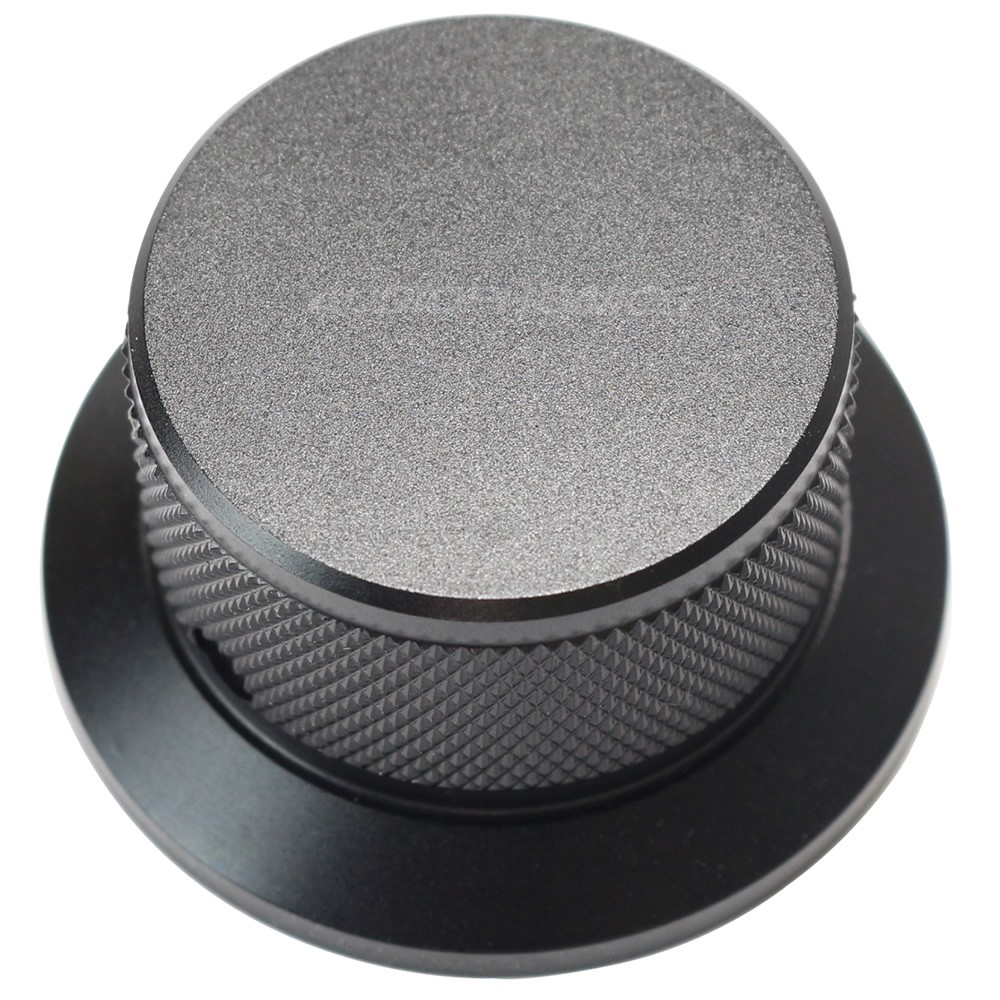 Aluminium Button Knob 45x25mm Black D axiss Ø6mm
