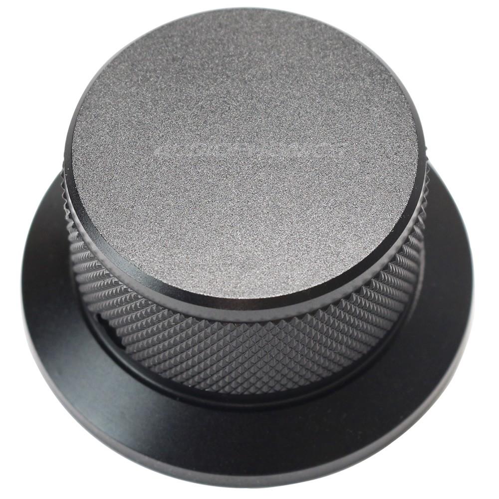 Bouton aluminium 45x25mm Noir Axe méplat Ø6mm