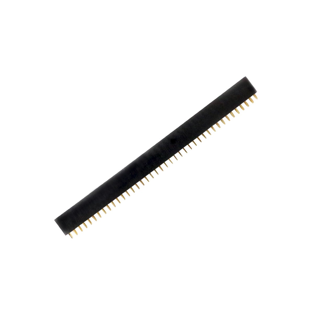 Male / Female Pin Header Straight Connector 2x40 Pins 2.54mm Spacing