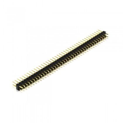 Connecteur Barrette Droit Mâle / Mâle 2X40 Pins Écartement 2.54mm Plaqué Or