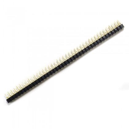 Connecteur Barrette Droit Mâle / Femelle 2X40 Pins Écartement 2.54mm Plaqué Or