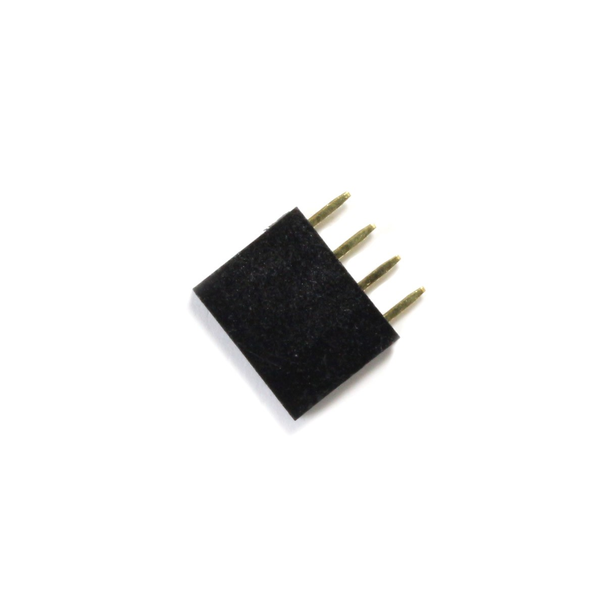 Male / Female Pin Header Straight Connector 1x4 Pins 2.54mm Spacing