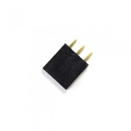 Male / Female Pin Header Straight Connector 1x3 Pins 2.54mm Spacing