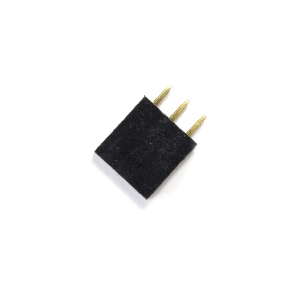 Connecteur Barrette Droit Femelle / Mâle 1x3 Pins Écartement 2.54mm