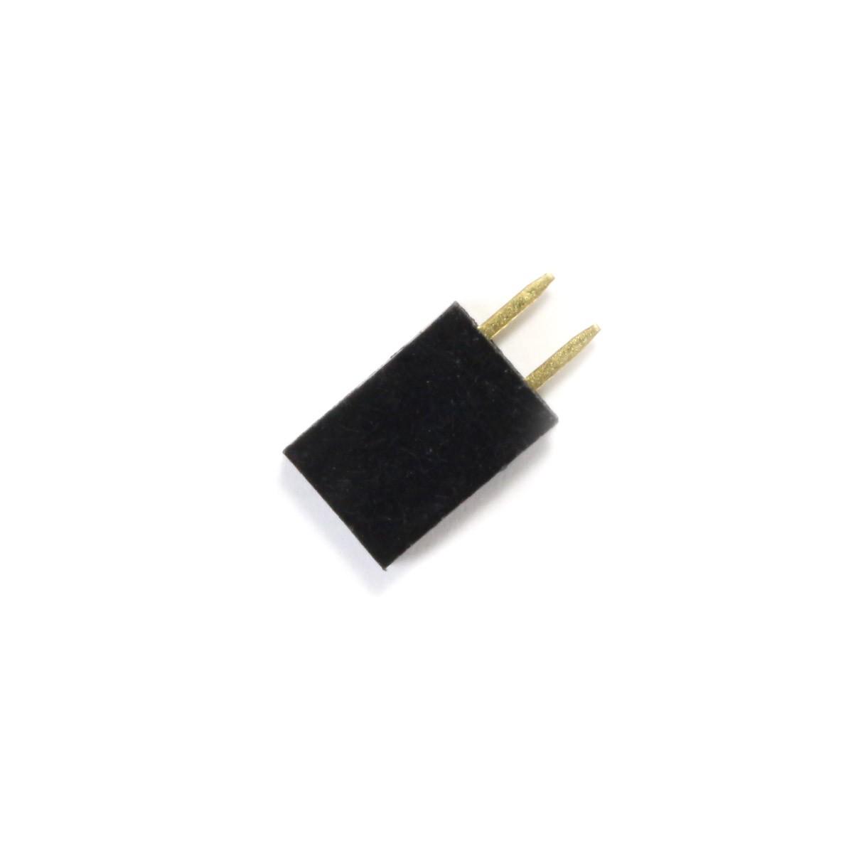 Connecteur Barrette Droit Femelle / Mâle 1x2 Pins Écartement 2.54mm