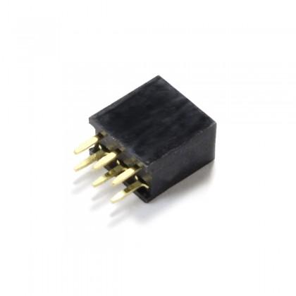 Connecteur Barrette Droit Femelle / Mâle 2x3 Pins Écartement 2.54mm