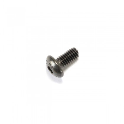 Hexagon Socket Round Head Screw M3x4mm 10.9 Steel Black (x10)