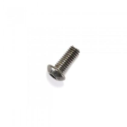 Hexagon Socket Round Head Screw M4x6mm 10.9 Steel Black (x10)
