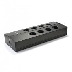 ARMATURE ELECTRA F8 V2 Distributeur Secteur Filtré 8 Prises Schuko Aluminium Noir