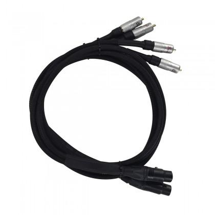 AUDIO-GD BRIDGE XLR-2RCA Câble XLR Femelle vers RCA Mâle pour Precision 3 1m Noir