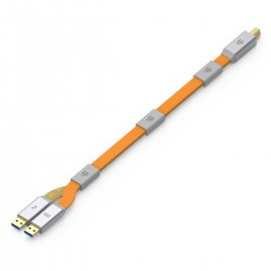 IFI AUDIO GEMINI3.0 Câble USB 3.0 Alimentation/Audio Isolés Quadruple Blindage Filtre RF 0.7m