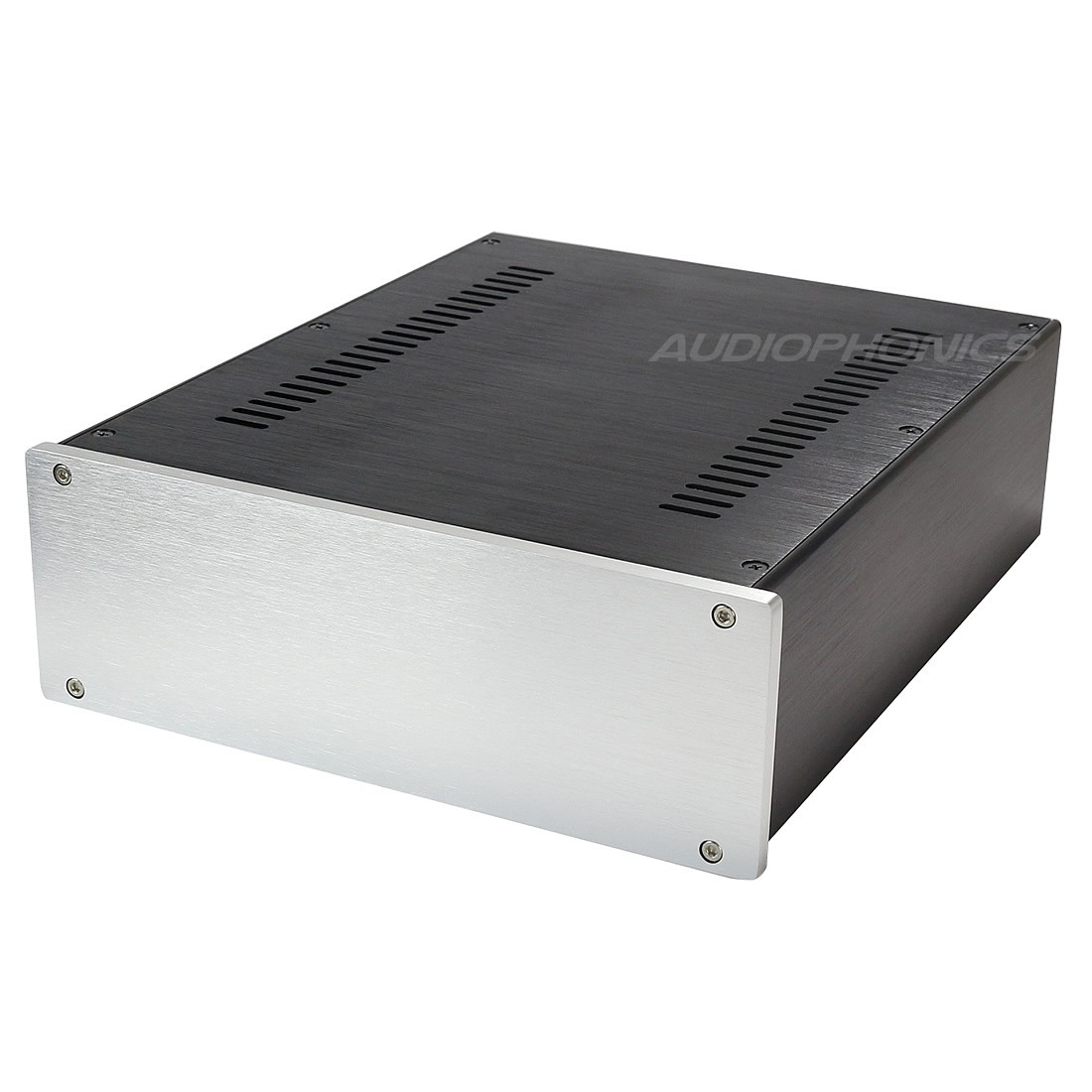 Boîtier DIY 100% Aluminium 260x249x90mm Façade Argent