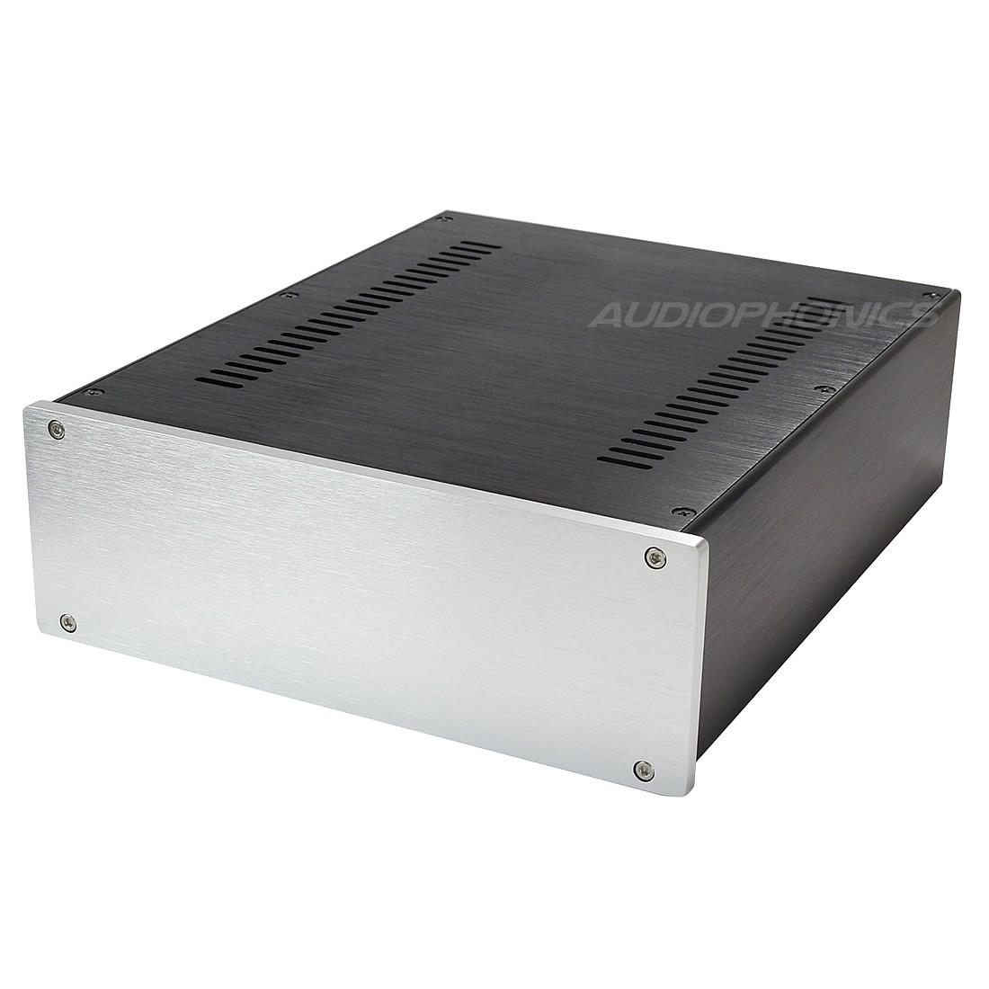 Boîtier DIY 100% Aluminium 260x311x90mm Façade Argent