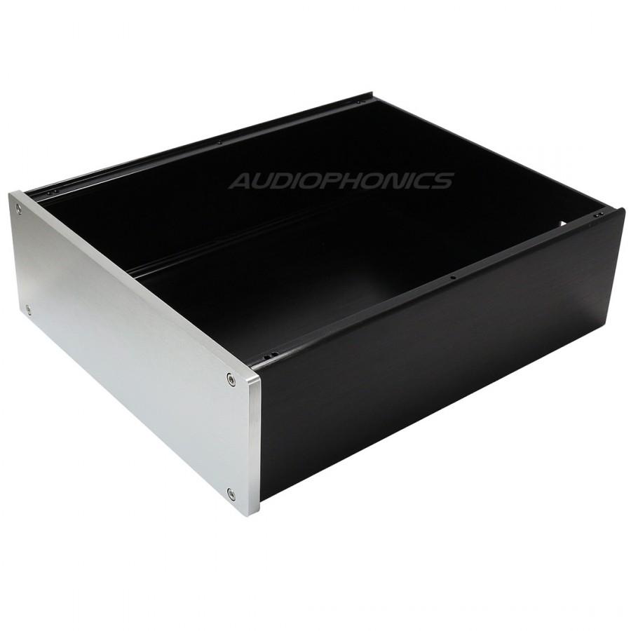 diy box case silver face 100 aluminium 260x249x90mm. Black Bedroom Furniture Sets. Home Design Ideas