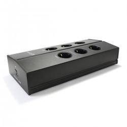 ARMATURE ELECTRA F6 Distributeur Secteur Filtré 6 Prises Aluminium Noir