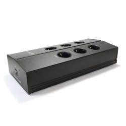 ARMATURE ELECTRA F6 V2 Filtered Power Distributor 6 Sockets Aluminium Black