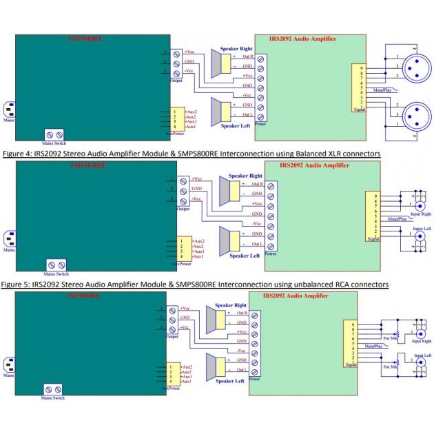 Scheda IRS2092 per finale di potenza esuberante Irs2092-stereo-class-d-amplifier-module-2x-400w-4-ohm