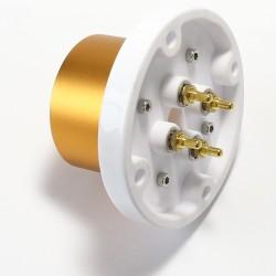 Capot isolateur en céramique Plaqué Or pour Tube Anode Ø 6.5mm (Unité)