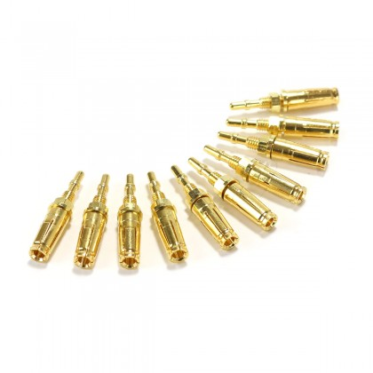 Pins Laiton Plaqué Or pour Support de Tube KT88 GZ34 EL34 Type-2 (x10)