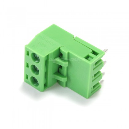 3-Way Angled-Angled Screw Terminal Block EDG Type 5.08mm