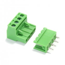 Terminal Block with Screws 4 Ways for PCB Straight-Angled 5.08mm