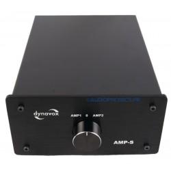 DYNAVOX AMP-S Commutateur sélecteur audio pour enceintes / amplificateurs Noir