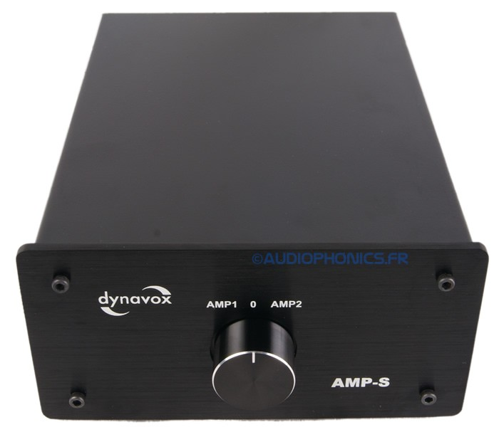 DYNAVOX AMP-S Commutateur sélecteur audio pour enceinte / amplificateurs Noir