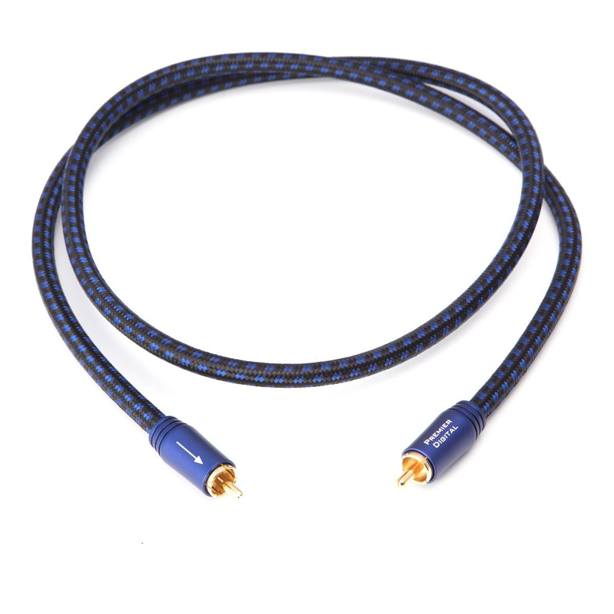 PANGEA PREMIER Câble Coaxial Cuivre OFC Plaqué Argent Double Blindage 1.5m