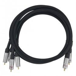 AUDIO-GD BI-AMP RCA Câble Bi-Amplification 1x RCA vers 2x RCA pour Precision 3 1m Noir