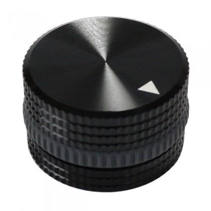 Bouton K002B Aluminium massif Noir 25×18mm pour Ø6mm