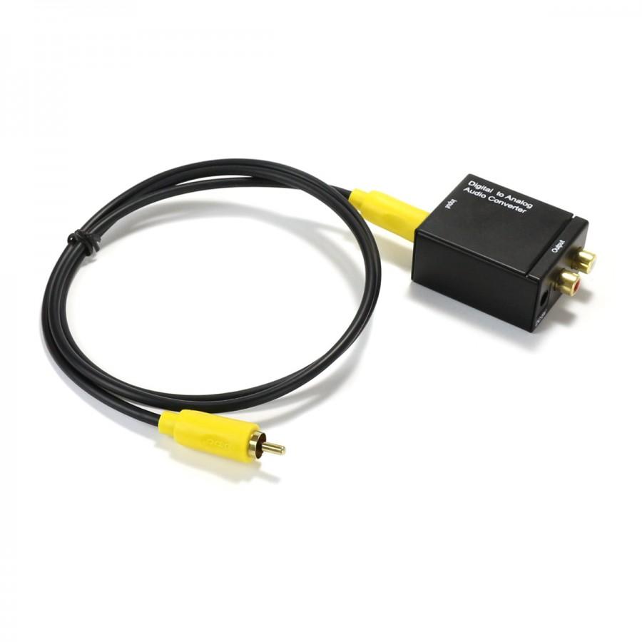 dac tv ms8413 convertisseur spdif coaxial optique vers analogique rca audiophonics. Black Bedroom Furniture Sets. Home Design Ideas
