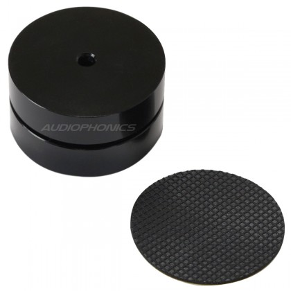 Aluminium Feet with 3 balls 39x24mm (unit) Black