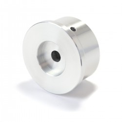 Bouton Aluminium Axe Méplat 38x22mm Ø6mm Argent pour Potentiomètre