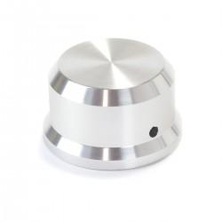 Bouton Aluminium pour Potentiomètre 38x22mm Axe Méplat Ø 6mm Argent