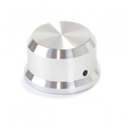 Aluminium Knob for Potentiometer 38x22mm Flat Axis Ø 6mm Silver