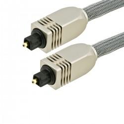 Fibre optique Toslink SPDIF Connecteurs métal et gaine 1.8m