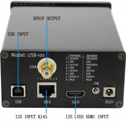LKS USB-100 Interface Digital USB Interface SPDIF I2S LVDS HDMI 32bit 384khz DSD512