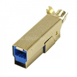 USB 3.0 connector male Type B Gold plated