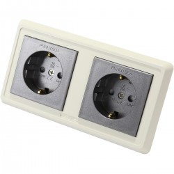 FURUTECH FP-SWS-D (G) Gold plated dual Schuko Wall plate