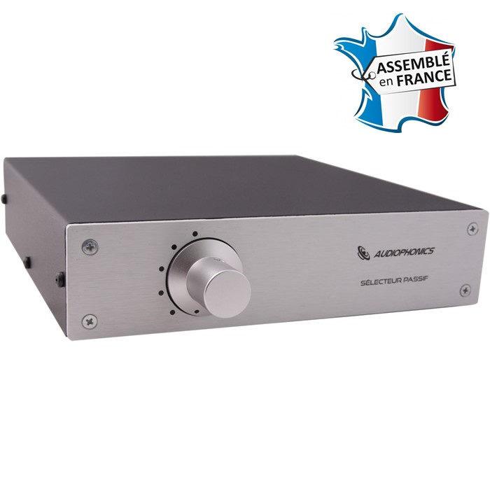 AUDIOPHONICS Elma passive source selector 1 to 5 Silver