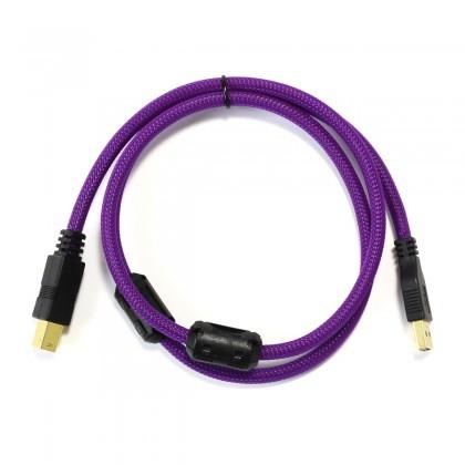 Male USB-A to Male USB-B 3.0 Cable Copper 1m Purple
